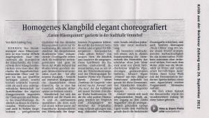 Kurt-Ludiwg Forg, Borkener Zeitung, 24.09.2012